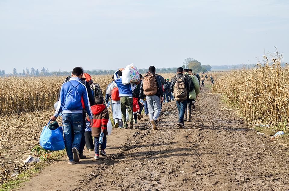 Foto di profughi afghani. Foto di Ajdin Kamber
